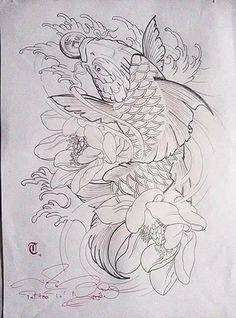 Тату Япония Tatto Koi, Pez Koi Tattoo, Koi Tattoo Sleeve, Koi Tattoo Design, Carp Tattoo, Japanese Sleeve Tattoos, Japanese Koi Fish Tattoo, Koi Fish Drawing, Japanese Tattoo Designs