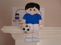3D On the Shelf Card Kit Little Footballer Jacob on Craftsuprint designed by Carol Clarke - made by Beverly Carmichael - Printed on to good quality glossy photo paper. Cut out all pieces. Scored and folded the main piece to form the card base. Assembled the card and envelope following the excellent instructions included in the kit. My 6 year old great grandson Jacob is going to receive this for is birthday. - Now available for download!