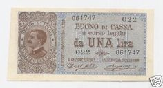 ITALY, 1 Lira 1914 UNC- / FDS- RARE BANKNOTE IN THIS CONDITION + http://www.ebay.com/itm/ITALY-1-Lira-1914-UNC-FDS-RARE-BANKNOTE-CONDITION-/161141213163?pt=Paper_Money&hash=item2584c3c7eb