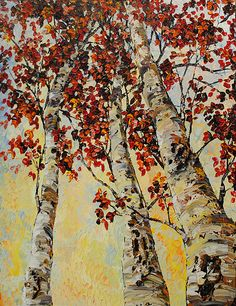 "Landscape Fine Art ""Birch I"" at a Scottsdale Art Gallery Birch, Original Artwork, Contemporary Art, Art Gallery, Fine Art, Landscape, The Originals, Canvas, Artist"
