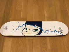 Yoshitomo Nara x Takashi Murakami Collaboration Skateboard Art 100 Limited 2001 | eBay Skate Decks, Skateboard Decks, Murakami Flower, Yoshitomo Nara, Takashi Murakami, Japan, Smiley, Skate Board, Collaboration