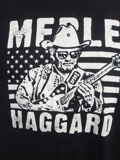 FUTURE VINTAGE American Pop Culture Tees: Mearle Haggard Music USA T-Shirt XL