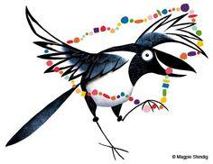Magpie Cartoon by Matt Dawson.