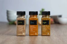 Bottled Condiment Branding : Rota Das Cores Spices Packaging