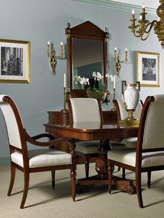 Dining Room - Henrietta Spencer-Churchill for Maitland-Smith Luxury Dinning Room, Elegant Dining Room, Traditional Dining Rooms, Traditional Decor, Dining Room Paint, Living Comedor, Fine Furniture, House Rooms, Home Furnishings