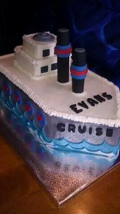 Miraculous 16 Best Cargo Ship Cake Images Cake Boat Cake Ship Funny Birthday Cards Online Aboleapandamsfinfo
