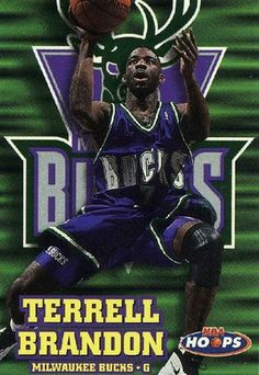 RARE 97/98 SKYBOX NBA HOOPS TERRELL BRANDON MILWAUKEE BUCKS MINT