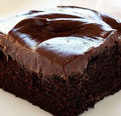 Easy, homemade chocolate cake! Made in an 8x8, so a great cake for the 2 of us!