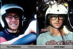 Tom Hiddleston Totally Looks Like Garth Algar!!! Ha they are great!!