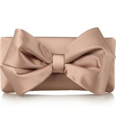 Valentino Bow Satin Clutch--yes please