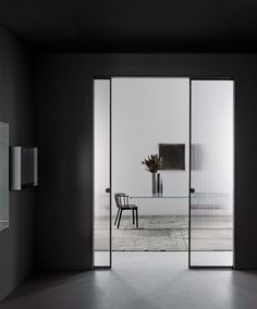 Minimal. Fluted glass doors to close off office space | Glasitalia