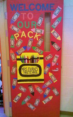 Our door at the beginning of school to welcome our students to Preschool.