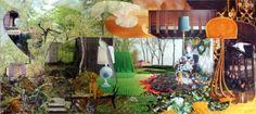 Original Garden Collage by Ossa Haddas Photorealism, Vintage Market, Online Gallery, Collage Art, Paper Art, Saatchi Art, My Arts, Concept, Landscape