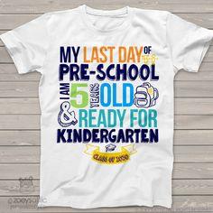 7b7624457 Pre-School last day shirt - ready for kindergarten pre-school graduation  tshirt MSCL-001