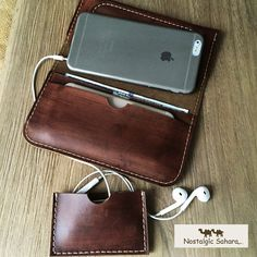 Sale/leather wallets Handmade coffee leather por NostalgicSahara