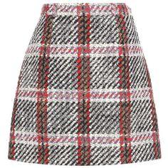 Carven Virgin Wool-Blend Tweed Miniskirt (1277600 PYG) ❤ liked on Polyvore featuring skirts, mini skirts, bottoms, multicoloured, multi color skirt, short tweed skirt, tweed mini skirt, short mini skirts and multi colored skirt