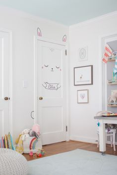 Bunny Door Decal in