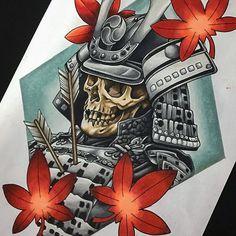 Fallen Samurai, Prismacolor pencil on A4. @fivekeystattoo