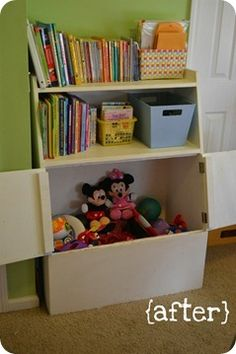 Bookshelf And Toy Box All In One Unit For A Kid S Room