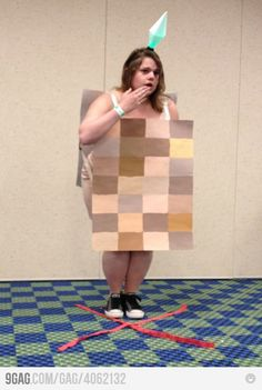 Naked Sim cosplay - Comic Con? HALLOWEEN COSTUME IDEA MUCH?