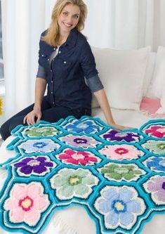 70+ Crochet Flower Patterns Crochet Throw Pattern, Crochet Motifs, Crochet Flower Patterns, Crochet Squares, Crochet Flowers, Crochet Stitch, Free Crochet, Knit Crochet, Pattern Flower
