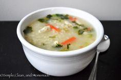 Lemongrass Chicken and Rice Soup