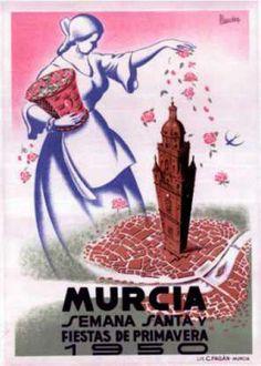 cartel fiestas primavera 1950