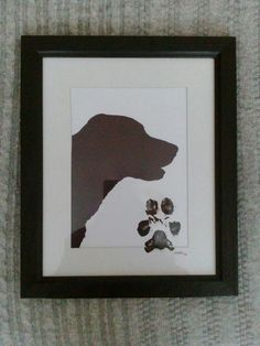 DIY dog silhouette and pawprint just too cute
