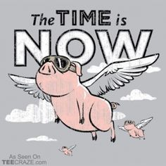 Snorg Tees - New Funny T-Shirts Every Week - Cool Graphic Tee Shirts The Time Is Now, Just For You, This Little Piggy, Little Pigs, Cool Graphic Tees, Graphic Tee Shirts, Funny Hoodies, Funny Tshirts, Flying Pig Marathon