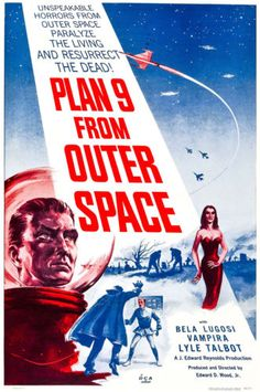 OLD Vintage Movie Film Poster Plan 9 From Outer Space HD Print OR Canvas