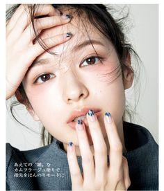 Japanese makeup look Makeup Trends, Makeup Inspo, Makeup Inspiration, Makeup Ideas, Makeup Tutorials, Doll Eye Makeup, Hair Makeup, Uk Makeup, Makeup Style
