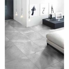Graphite Porcelain Tile 300 x 300mm Ash - Mitre 10 1.08 square metres per pack, 12 tiles per pack. Also available in 450x450mm size. $32.37 pack
