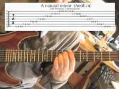 Learn How To Play Guitar Scales ... 7 positions of A minor scale  ... Guitar lesson with tabs
