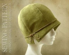 SEWING PATTERN - Lois 1920s Twenties Cloche Fabric Hat for Child or Adult