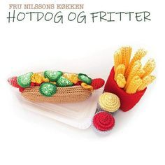 Crochet Patron, Food Patterns, Crochet Food, Play Food, Fritters, Hot Dogs, Crochet Projects, Crochet Patterns, Sewing