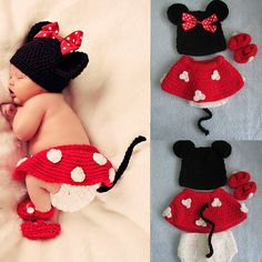 Infant Newborn Baby Crochet Minnie Mouse by michaelfashionstore, $19.99