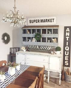 I don't always have too many signs in my dining room. But when I do it's because @decorsteals sales such amazing things! #decorsteals #love
