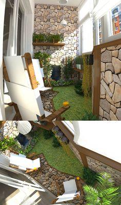 The same balcony garden, planning