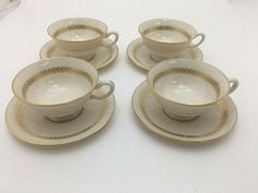 """have more items gold backstamp 2-1//4/"""" tall Lenox Imperial CUP LOT of TWO"""