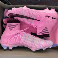 Pretty pink cleats