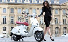 Vespa 946 and stylish rider