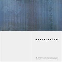 1986, Cover for 'Brotherhood' by New Order.