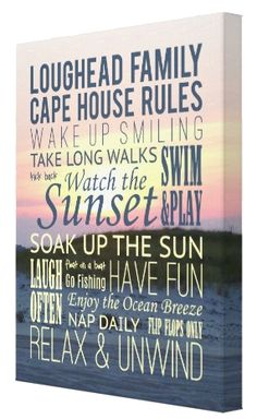 "Beach House Rules Photo Canvas - 18"" x 24"" Wrapped Canvas"