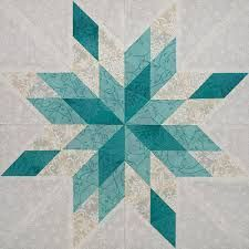 Image result for modern snowflake quilt pattern