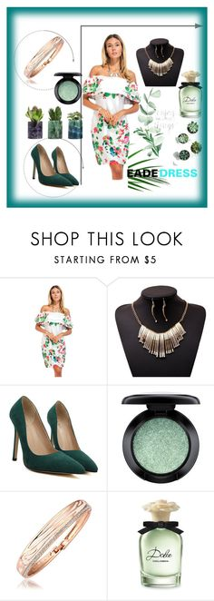 """""""# EadeDress # 34"""" by deyanafashion ❤ liked on Polyvore featuring MAC Cosmetics and Dolce&Gabbana"""