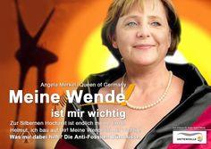 #Angela #Merkel #Wende #Energiewende #Postfossil #Queen #ItGirl #Power #WindofChange #Lookingforfreedom #Freiheit