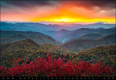 Blue Ridge Mountains Tennessee in spring | Clingmans Dome Great Smoky Mountains - Purple Mountains Majesty by ...