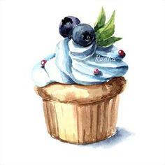 акварель десерты - Поиск в Google