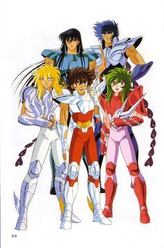 Bronze saints - Seiya Hyoga Shun Ikki Shiryu - Pegasus Cygnus Andromeda Phoenix Dragon - zodiac knights