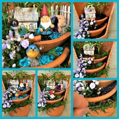 Broken Pot Gardens http://thegardendiaries.wordpress.com/2014/03/20/happy-gnoming-home-for-a-gnome/